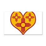 nmziaheart Rectangle Car Magnet