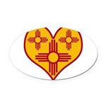 nmziaheart Oval Car Magnet