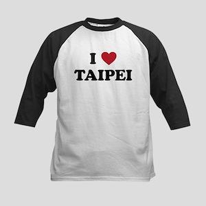 I Love Taipei Kids Baseball Jersey