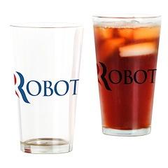 Anti-Romney ROBOT Drinking Glass