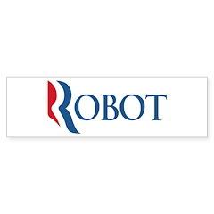 Anti-Romney ROBOT Sticker (Bumper)