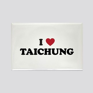I Love Taichung Rectangle Magnet