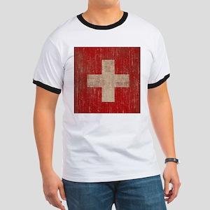 Vintage Switzerland Flag Ringer T