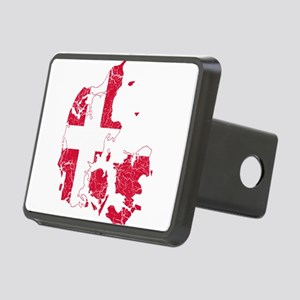 Denmark Flag And Map Rectangular Hitch Cover