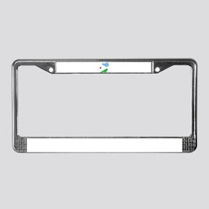 Djibouti Flag And Map License Plate Frame