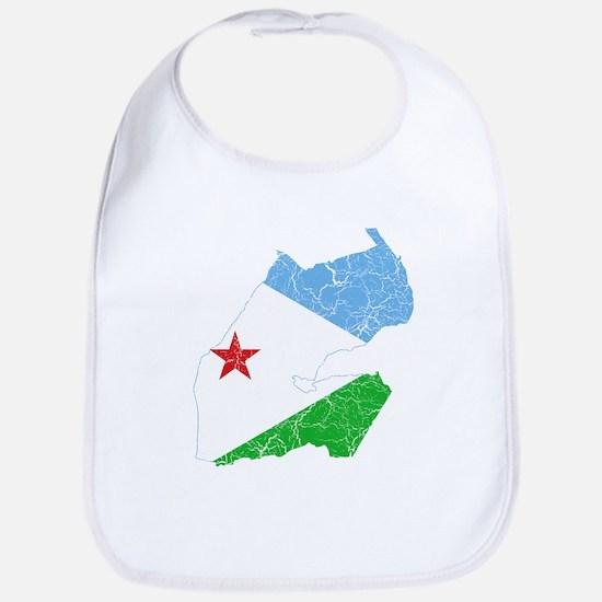 Djibouti Flag And Map Bib