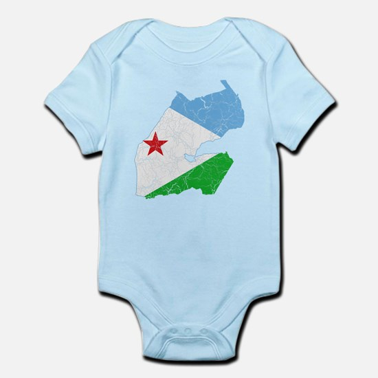 Djibouti Flag And Map Infant Bodysuit