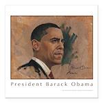 Obama Poster Square Car Magnet 3