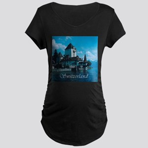 Switzerland Maternity Dark T-Shirt