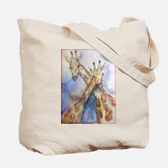 Giraffes! wildlife art Tote Bag