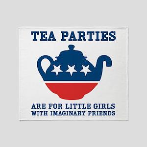 Tea Parties Throw Blanket