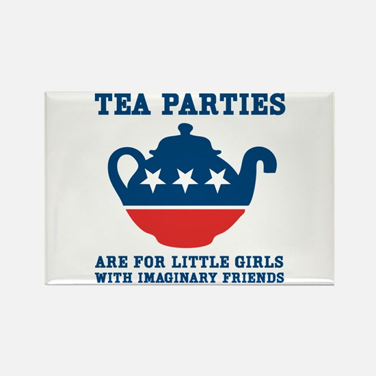 Tea Parties Rectangle Magnet