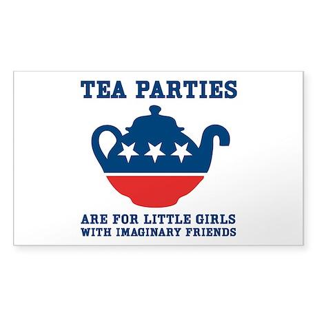 Tea Parties Sticker (Rectangle)
