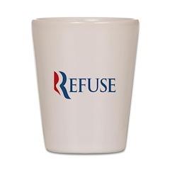 Anti-Romney Refuse Shot Glass