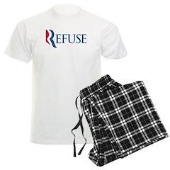 Anti-Romney Refuse Men's Light Pajamas