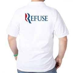 Anti-Romney Refuse Golf Shirt