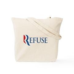 Anti-Romney Refuse Tote Bag