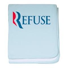 Anti-Romney Refuse baby blanket
