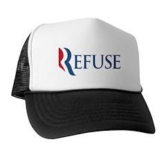 Anti-Romney Refuse Trucker Hat