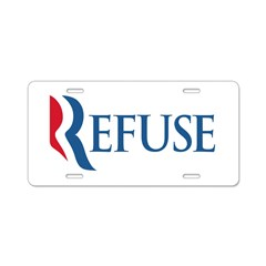Anti-Romney Refuse Aluminum License Plate