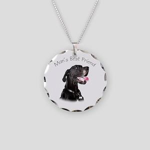 Man's Best Friend Necklace Circle Charm