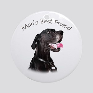 Man's Best Friend Ornament (Round)