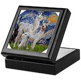 Llama Square Keepsake Boxes