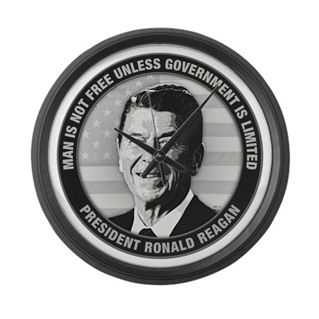 President Ronald Reagan Large Wall Clock