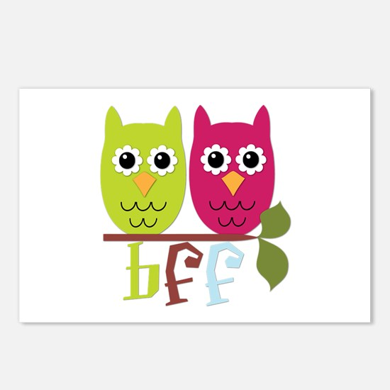 BFF Best Friends Forever Owls Postcards (Package o