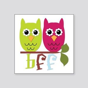 "BFF Best Friends Forever Owls Square Sticker 3"" x"