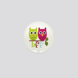 BFF Best Friends Forever Owls Mini Button