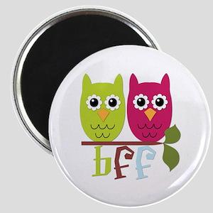 BFF Best Friends Forever Owls Magnet
