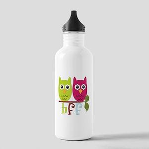 BFF Best Friends Forever Owls Stainless Water Bott