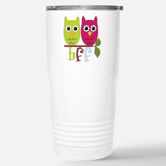 BFF Best Friends Forever Owls Stainless Steel Trav