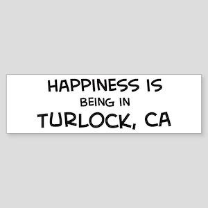 Turlock - Happiness Bumper Sticker