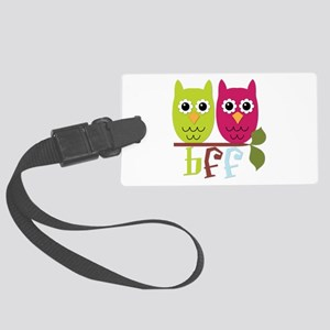 BFF Best Friends Forever Owls Large Luggage Tag