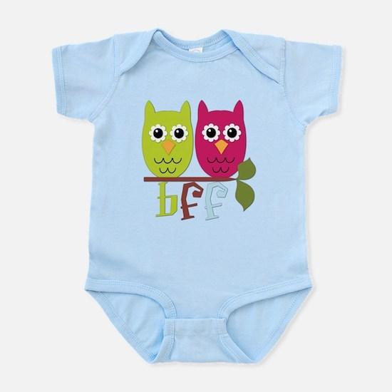 BFF Best Friends Forever Owls Infant Bodysuit