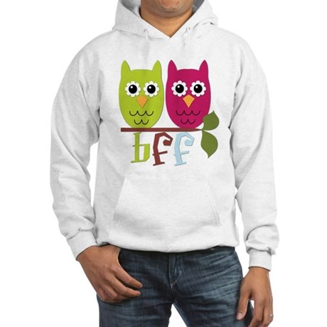BFF Best Friends Forever Owls Hooded Sweatshirt