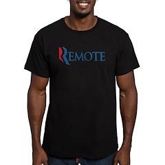 Anti-Romney Remote Men's Fitted T-Shirt (dark)