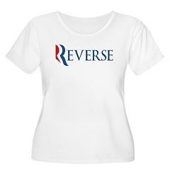 Anti-Romney Reverse Women's Plus Size Scoop Neck T