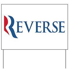 Anti-Romney Reverse Yard Sign