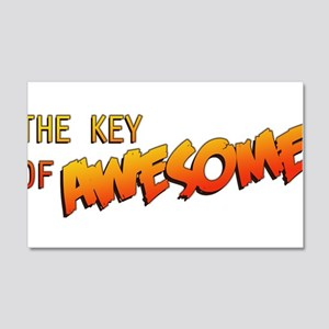 The Key of Awesome Logo 20x12 Wall Decal