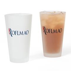 Anti-Romney ROFLMAO Drinking Glass