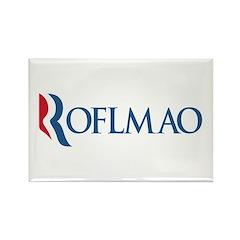 Anti-Romney ROFLMAO Rectangle Magnet