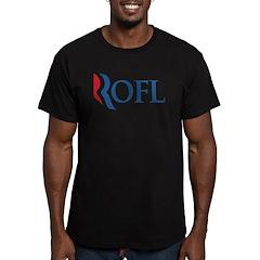 Anti-Romney ROFL Men's Fitted T-Shirt (dark)