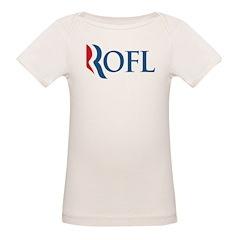 Anti-Romney ROFL Organic Baby T-Shirt