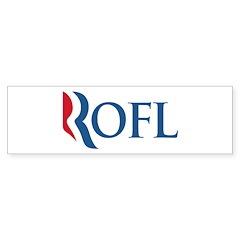 Anti-Romney ROFL Sticker (Bumper)