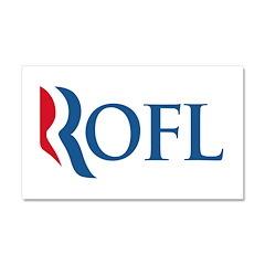 Anti-Romney ROFL Car Magnet 20 x 12
