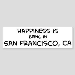 San Francisco - Happiness Bumper Sticker