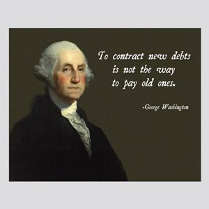 George Washington Debt Quote Small Poster
